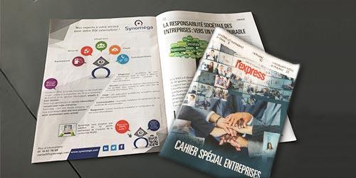 Synoméga s'affiche dans l'Express pour valoriser son image d'expert de l'infogérance