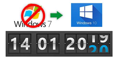 De la fin du support Windows 7 à l'installation de Windows 10 Professionnel